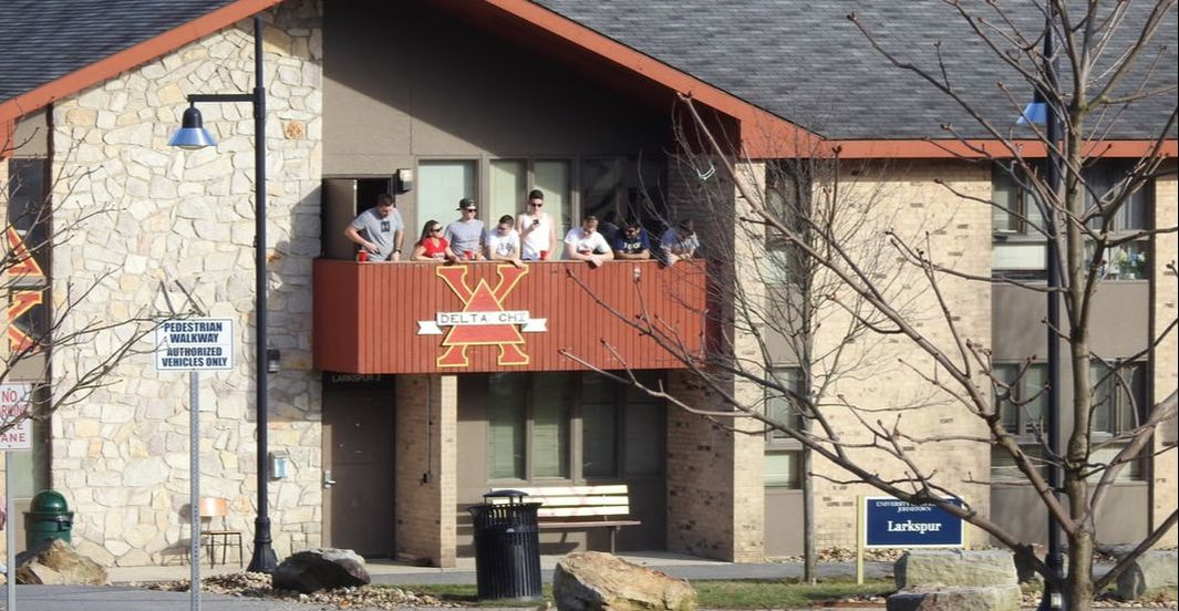 Delta Chi's Larkspur Lodge balcony